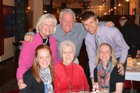 19zi - 2014 National Lutheran Choir - Family Dinner - Abbe, Nana, Abbe, Kim Tom and Aaron