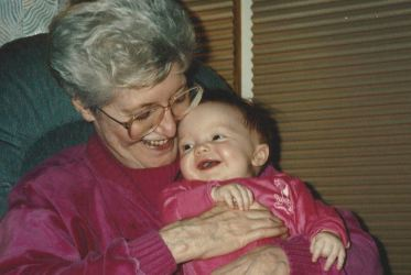 33 - 1993 Nana and Em Laughing